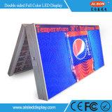 P10 LED a todo color lateral doble al aire libre que hace publicidad de la pantalla