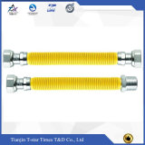 Mangueira flexível metálica personalizada de conetor rosqueado para a tubulação de gás natural