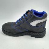 Zapatos de funcionamiento de la seguridad de la PU de la punta de acero de cuero de los hombres únicos Ufe029