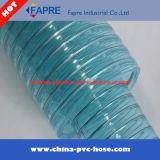 Ventes chaudes ! Boyau transparent de fil d'acier de PVC de plastique