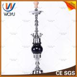 Noir en verre de Shisha Nargile de pipe avec le narguilé de Ceitificate de la CE