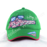 Grüne Baumwoltwill-Kinder Caps&Hats