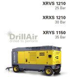 compresor de aire portable del tornillo de Copco del atlas de 1140cfm 35bar para la explotación minera