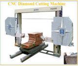 El alambre del puente del CNC vio la piedra de la máquina/la máquina del granito/de mármol del corte por bloques