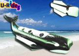 Bateau de banane noir de requin de couleur pour l'amusement
