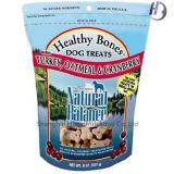 Sac comique de nourriture d'empaquetage en plastique d'animal familier flexible avec la tirette