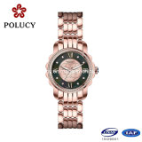 Moda Vogue Rose Gold Plated Stainless Steel Case Back Wrist Watch