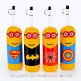 Bottiglia di plastica a gettare del fumetto del PE