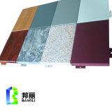 El aluminio de piedra de la capa del grano artesona el fabricante decorativo de piedra del panel de pared