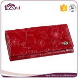 Raccoglitore trasversale impresso delle donne del fiore di cuoio dell'unità di elaborazione di colore rosso