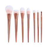 Synthetic Hair Nylon Professional 7 PCS Set Metal Handle Cosmetic Makeup Brushes