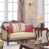 거실을%s Classic Table를 가진 고대 Fabric Couch 미국 Wooden Loveseat