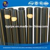 Tubulação do PE do padrão de ISO para o gás