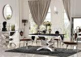 6 Seater Pics van de Aangemaakte Zwarte Reeks van de Eettafel van het Glas