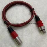 3 het Mannetje van de speld aan de Vrouwelijke Rode Kabel van de Spreker XLR/van de Apparatuur Microphone/Sound