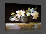 Klassieke die Olieverfschilderij van het Af:drukken van het Canvas van de Bloem van het Beeld van de kunst het Decoratieve op Canvas wordt afgedrukt
