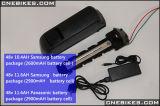 batería de litio de 48V 11.6ah Downtube con el cargador