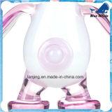 De aanbiddelijke Witte Eend van de Waterpijp van de Wasflessen van het Glas