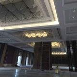Do teto quadrado do cristal e da tela da forma lâmpada com hotel