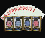 Cartões 100% de jogo do PVC da qualidade do casino/cartões de jogo plásticos do póquer