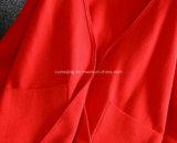 Capa roja del conducto del capote del poliester del `S de las mujeres