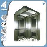 Elevador do passageiro do aço inoxidável do espelho da velocidade 1.0m/S