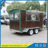 Ys-Fw450によってカスタマイズされる木のトレーラーの食糧トラックのアイスクリームのトレーラー