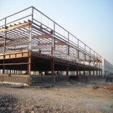 Almacén prefabricado ligero del marco de acero con de dos pisos