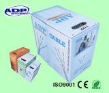Passar o cabo de LAN do teste CAT6 do solha com rolo fácil da caixa puxando do PVC 305m de RoHS