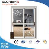 Portello di vetro di scivolamento di alluminio di Fuxuan