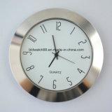 Redondo de plata goldtone de las pequeñas piezas insertas del reloj de la aduana 65m m