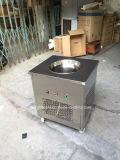 De commerciële Machine van het Roomijs van het Gebraden gerecht met 1 Ronde Pan