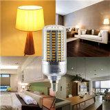 Lámpara de plata blanca del bulbo de la carrocería LED del color de la luz E14 20W Wram del maíz del LED