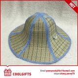 Chapeau de paille pliable en bambou fait sur commande en gros pour des gosses