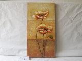 Pittura d'attaccatura di fiore del reticolo della tela di canapa decorativa unica della casa
