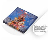 Caixa de indicador colorida do presente do cartão do Natal dos desenhos animados