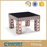 Sofa-Metallseiten-Tisch mit weißen Glashauptmöbeln