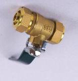 La vávula de bola fija de cobre amarillo (Q11F-16T)