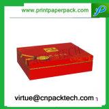 Abitudine esagerata che imprime il contenitore di regalo impaccante della stagnola del cartone del vino caldo del documento