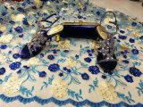 Merletto netto francese in rilievo del nuovo di arrivo di Tulle tessuto africano del merletto