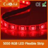 Luz de tira flexível elevada do diodo emissor de luz do brilho SMD5050 DC12V da longa vida