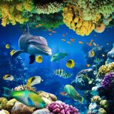 Color que talla el azulejo de la pared de la porcelana del mundo del océano 3D (VPA6A111)