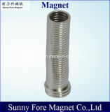 黒いエポキシの管状シリンダー磁石