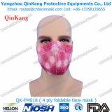Mascherina di polvere protettiva pieghevole a gettare senza valvola