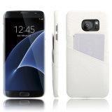 Cas en cuir de téléphone mobile d'unité centrale de configuration de crocodile pour le bord de Samsung S7