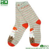 Weihnachtsmann Stripes reizende Baumwollgroßverkauf-Socken