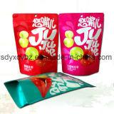 승인된 SGS는 간식을%s 지플락 플레스틱 포장을 위로 서 있다