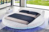 Neuer eleganter Entwurfs-modernes echtes Leder-Bett (HC558) für Schlafzimmer