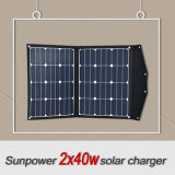 Serie flexible solar portable del cargador 80W Sunpower del panel