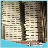 El panel de emparedado del acero PU/Rock Wool/EPS del color de la azotea y de la pared